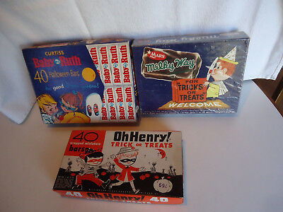 Vtg Dime store drug store Halloween Candy box lot advertising Trick or treat