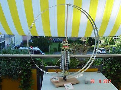 Magnetic Loopantenne , 3,5  /  5,0  /  7,0  MHz , 3 mm  Abst. , 35 - 370 pf