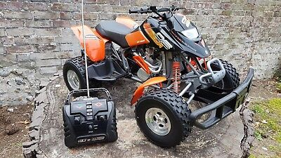 """R/C """"New Bright"""" Bombardier ATV 1:5 scale 49MHz, 22"""" long x 13"""" wide x 13"""" high"""