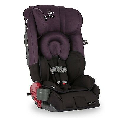 Diono Radian RXT Convertible Booster Car Seat in Black Plum - New Color w/ Tags!