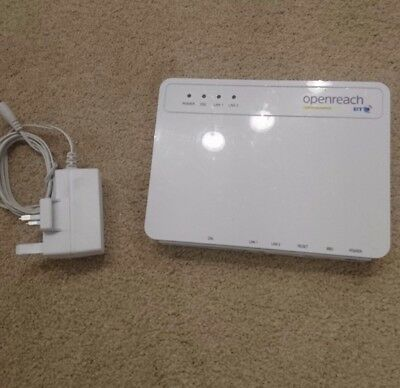BT Openreach ECI Fibre Optic Modem Router Type 1B VDSL FTTC