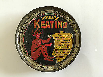 Keating Devil Image Insecticide Tin 1920s-1930