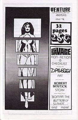 1970s fanzine Venture # 3 with The Changing Faces of Doc Savage