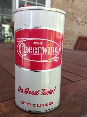 Vintage New Unopened Empty Steel Cheerwine Can Soda Pop Salisbury NC Prototype