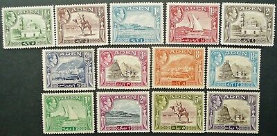 Aden 1939-48 Gvi New Daily Stamp Set - Mlh - See!