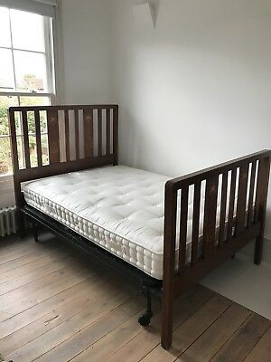 Antique Wooden Double Bed Frame. Sprung. Great Condition.