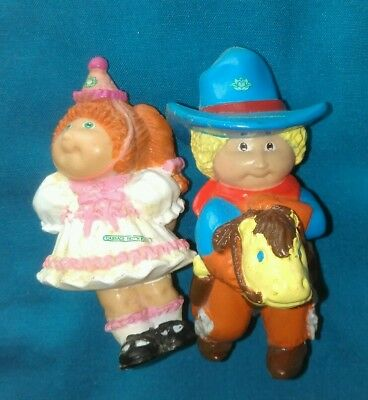 cabbage patch dolls 2 small 1980's dolls