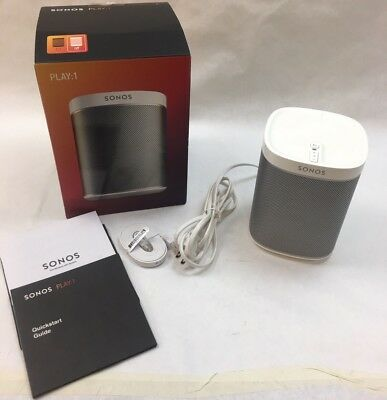 Sonos PLAY:1 Compact Wireless Smart Speaker Streaming WHITE SEE DESCRIPTION