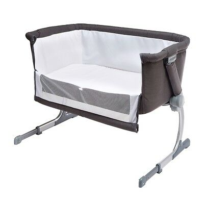 Childcare Cosy Time Sleeper Baby Bassinet Cot GREY (6 Position Bedside Sleeper)
