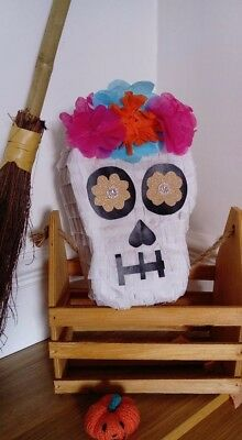 1 mini skull Halloween pinata children handmade  party game  smash pop boy girl
