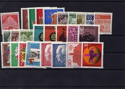 Germany 1967 Complete Year Mnh
