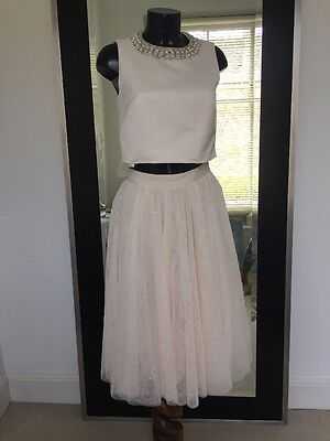 Ted Baker Blush Pink Two piece Prom Dress / Bridesmaids Dress