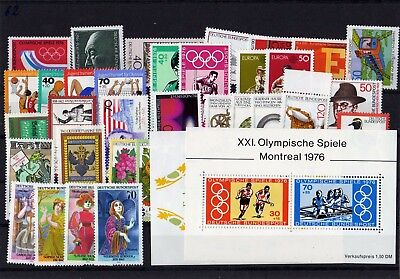 Germany 1976 Complete Year Mnh