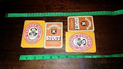 Vintage Advertising Kalgoorlie & Carlton Stout Decks Of Playing Cards