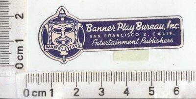 San Francisco - Banner Play Bureau, Inc, Entertainment Publishers  Mask - Label