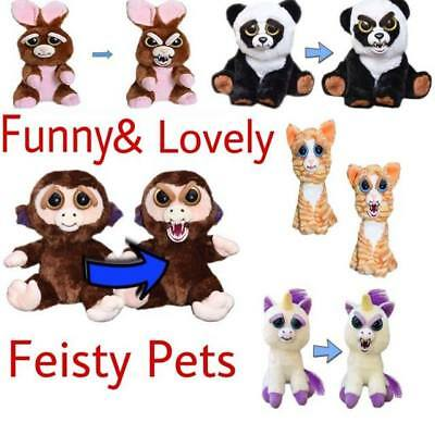 Feisty Pets Animal Face Change Stuffed Doll Plush Toy Cute Christmas Gift Lovely