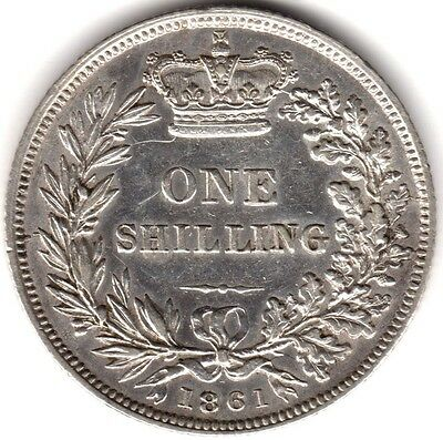 1861 Victoria Silver One Shilling***Collectors***
