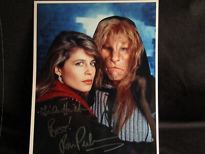 Beauty & The Beast Double Signed Linda Hamilton & Ron Perlman-From My Collection