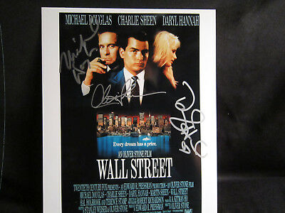Wall Street Triple Signed-See Picture 4-From My Collection