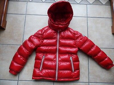 Boys Red Moncler Down Padded Coat Age 10 Years in Excellent Condition 100% Auth