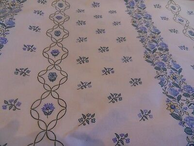 """Laura Ashley Vintage Fabric 48""""wide x 2.5metres Blue/White Floral"""