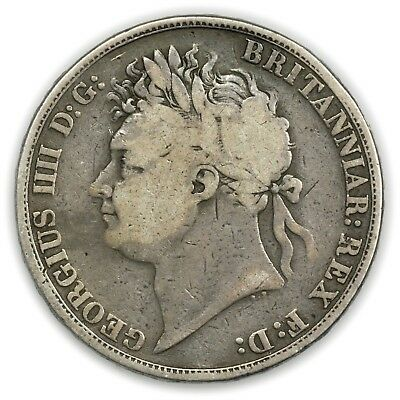 Great Britain KM#680.1 1821 Crown, Large Circulated Coin, George IV [3416.21]