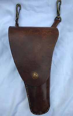 Vintage Tan Leather Gun Holster First World War