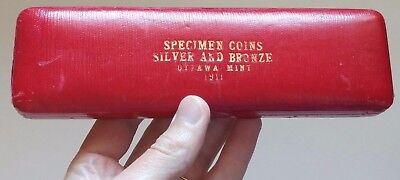 1911 Canada Specimen Set Silver and Bronze Original RCM Empty Case - Rare!