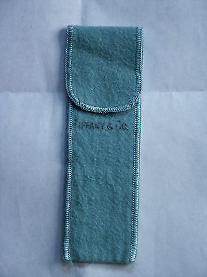 Tiffany & Co Robin Egg Blue Felt Storage Bag / Pouch For Silver Pieces - Ca 1970