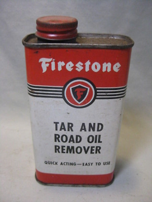 Vintage Firestone Tar and Road Oil Remover Can - EMPTY