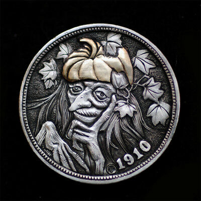 Hobo Nickel # HN17-119  copper  inlay by David HJ He(HJH)