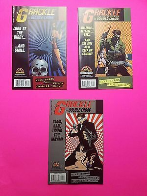 Lot (3) 1,3,4 The Grackle, In Double Cross - Acclaim Comics Bagged & Boarded
