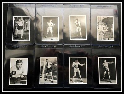 (8) LOT 1935 Sporting Events & Stars Complete Boxing (- Joe Louis) with Braddock