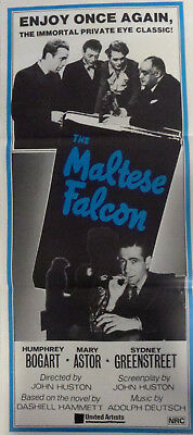 THE MALTESE FALCON (1941) Aust. re-release daybill. Humphrey Bogart