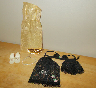 Vtg Ideal- Tammy Doll Clothes Evening Gown W/ Accessories & Lingerie