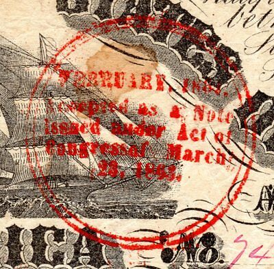 T-18 PF-20 $20 Confederate Paper Money 1861 - Trans-Miss Red Round - PMG VF 25!