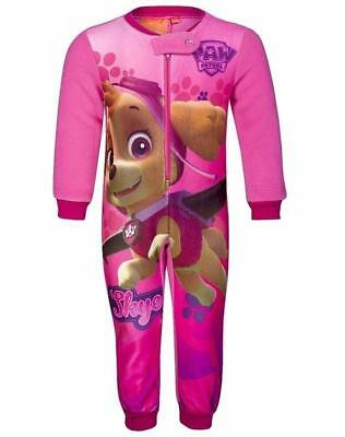 Girls All in One Fleece Character Paw Patrol Frozen Jumpsuit  Pyjamas Age 1-10Y