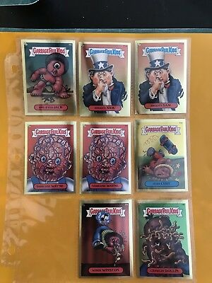 Garbage Pail Kids Lot Of 8 Gold Foil Cards 2004 N/M Or Better