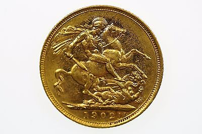 1902 Melbourne Mint Gold Full Sovereign in Very Fine Condition