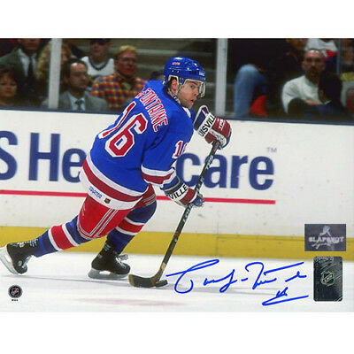Pat LaFontaine New York Rangers Signed 8X10 Photo