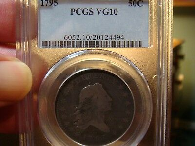 1795 Flowing Hair Half - PCGS_ VG-10 - NICE DATE -  NO PROBLEMS HERE !!!