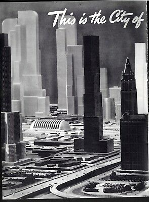 Future Trends|Tomorrow 1960|Norman Bel Geddes Predicts|Shell|2 pg|Paper Ad|1937