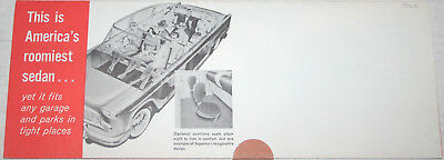 1960 CHECKER SUPERBA Roomiest Sedan Mailer fldr ORIGINAL sales Brochure