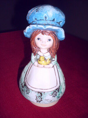 Vintage Schmid Bros Music Box Girl Doll Tune #246 Japan It's Impossible Works