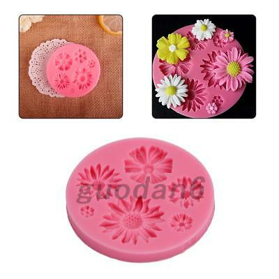 3D Flower Silicone Mold Fondant Cake Decorating Chocolate Sugarcraft Mould 1PCS
