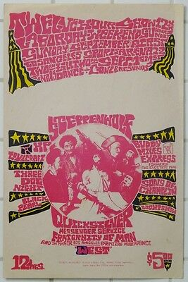 Quicksilver Steppenwolf 12 Hour Show 1968 Los Angeles Poster