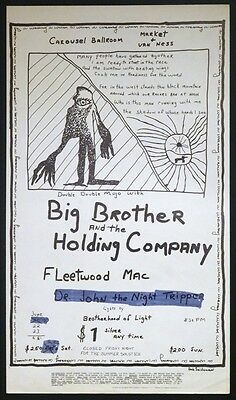 Big Brother & the Holding Co. Fleetwood Mac Carousel Poster