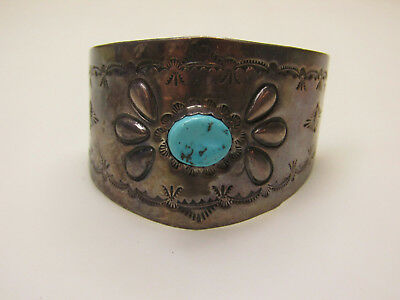 Vintage LS Signed Sterling Silver Southwest Jewelry Turquoise Color Hair Clip