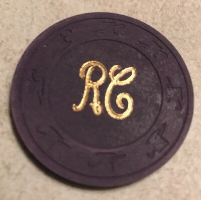 Rancho Inn Very Rare RC $.50 Casino Chips Las Vegas Style Chip 2.99 Shipping