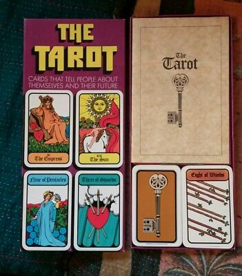 1973 THE TAROT Complete 78 CARDS Box Set REISS GAMES HOI POLLI W BOOKLET Vintage